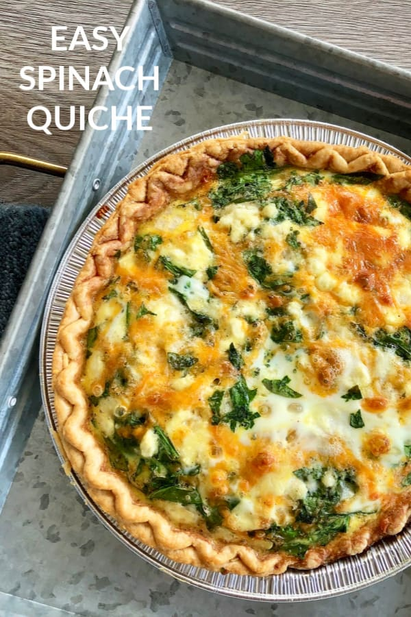 baked quiche on pan