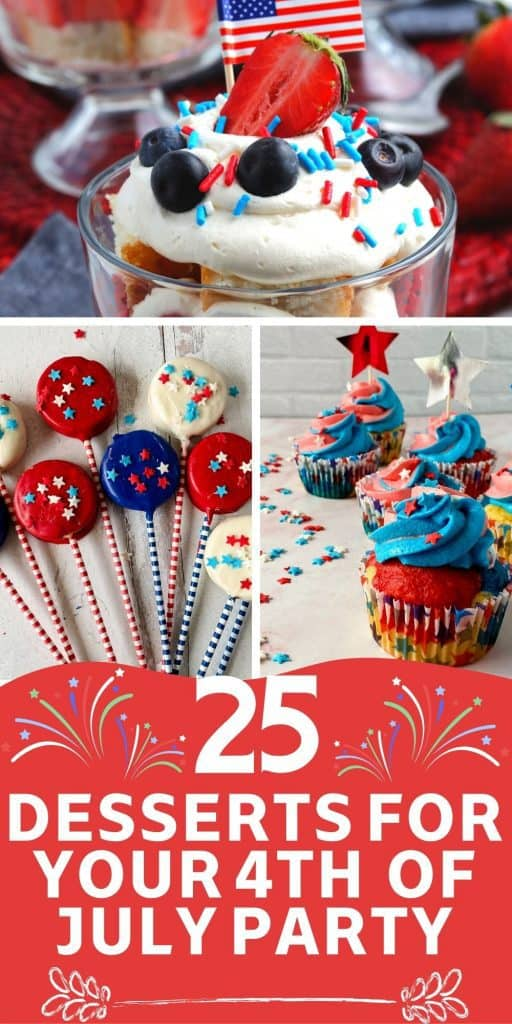 Desserts for 4th of July Party