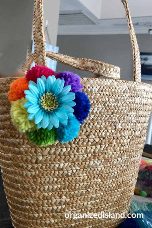 DIY flower tote bag