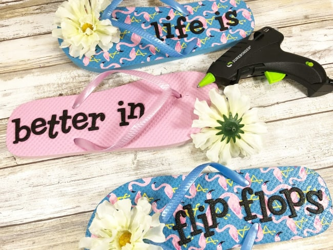 Life is better in flip flops DIY sign