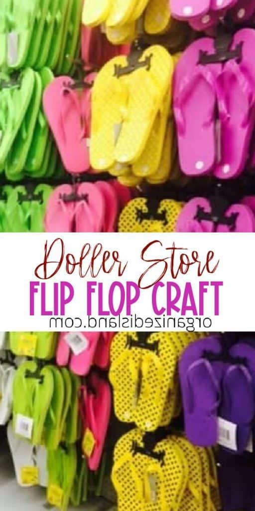 Flip Flop Dollar Store Craft