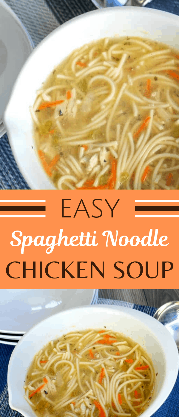 Chicken Soup with Spaghetti Noodle