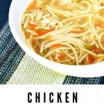 chicken soup with spaghetti