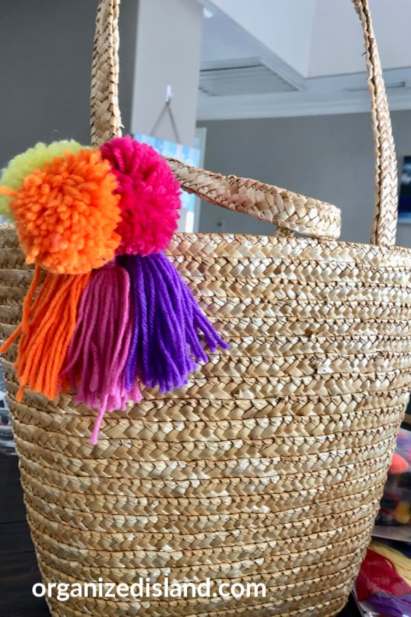 DIY Straw Bag Decor