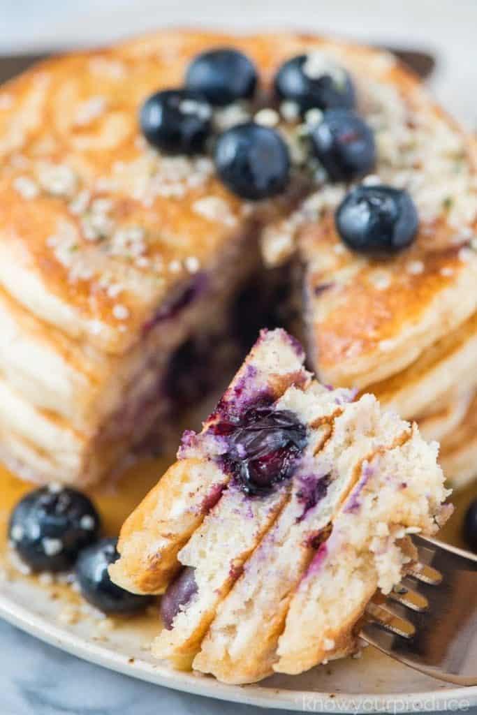 30+ Amazing Brunch Recipes with Fresh Fruit - Blueberry Pancakes