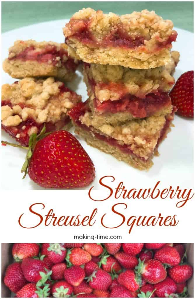 30+ Amazing Brunch Recipes with Fresh Fruit - Strawberry Streusel Squares