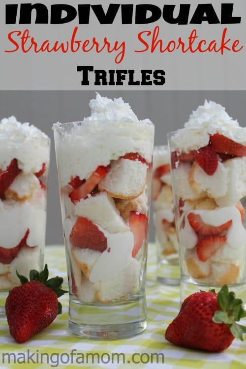 30+ Amazing Brunch Recipes with Fresh Fruit - Individual Strawberry Shortcake Trifles