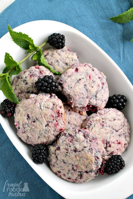 30+ Amazing Brunch Recipes with Fresh Fruit - Blackberries & Cream Biscuits