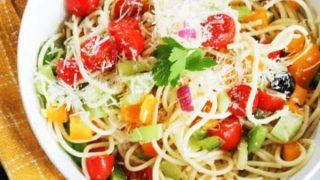 Easy Spaghetti Pasta Salad
