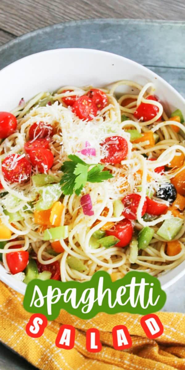 Easy Spaghetti Pasta Salad Recipe