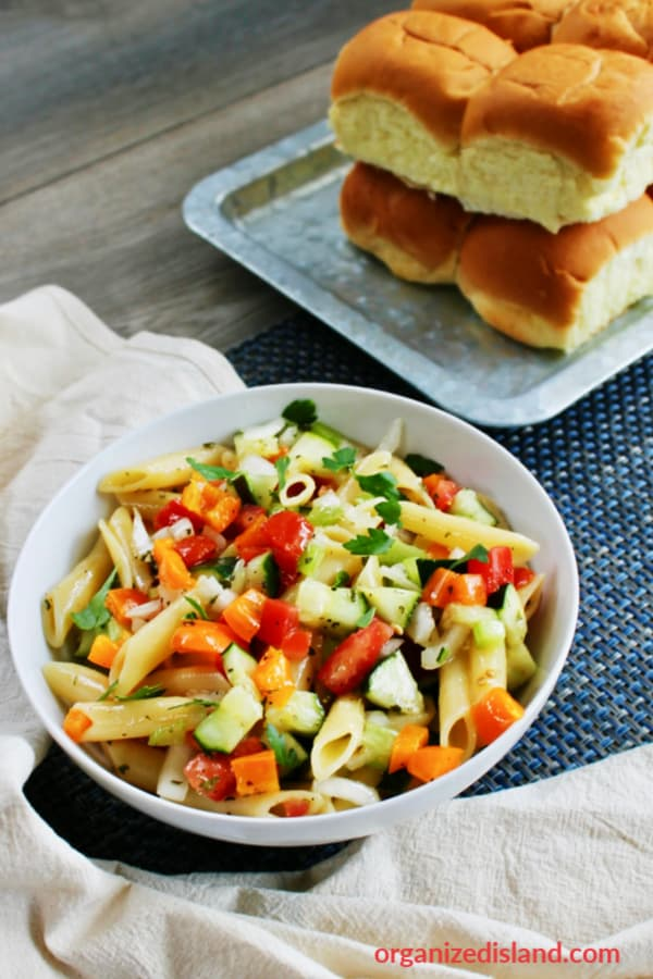 Penne Pasta salad with Olive Oil
