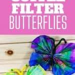 coffee fliter butterflies