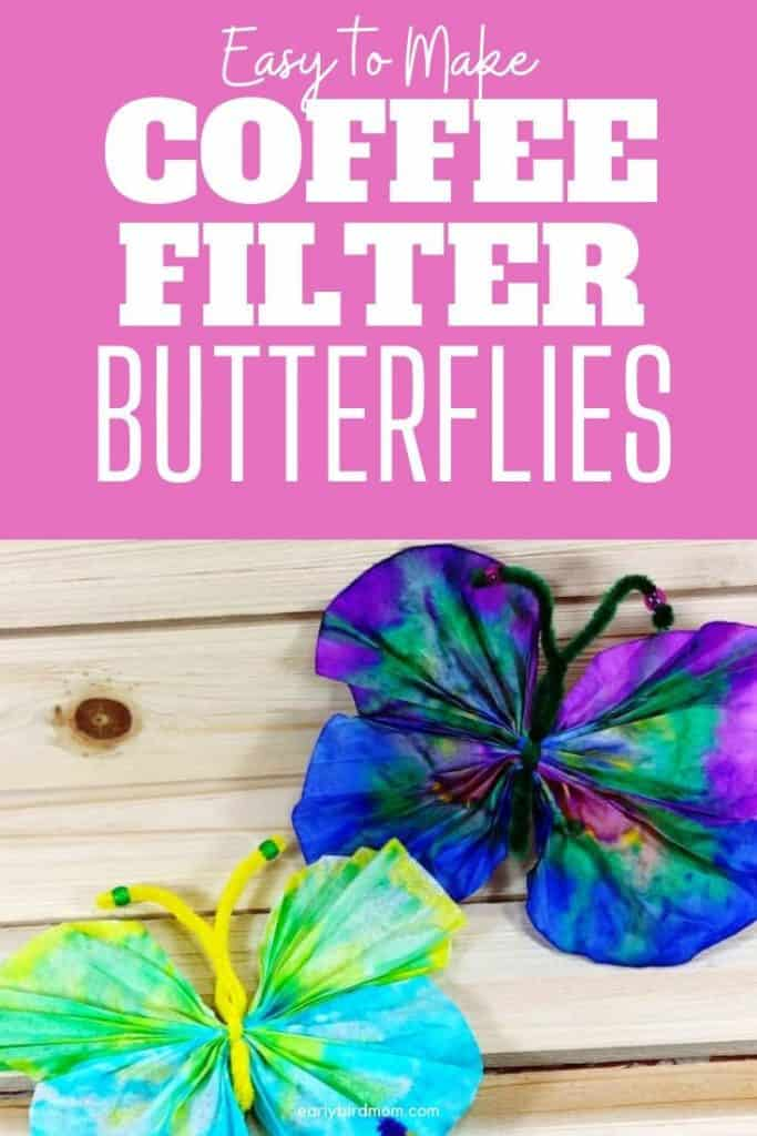coffee fliter butterflies