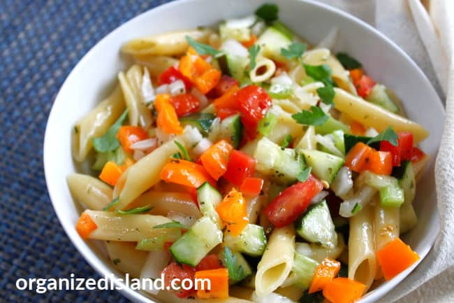 how to make penne pasta salad