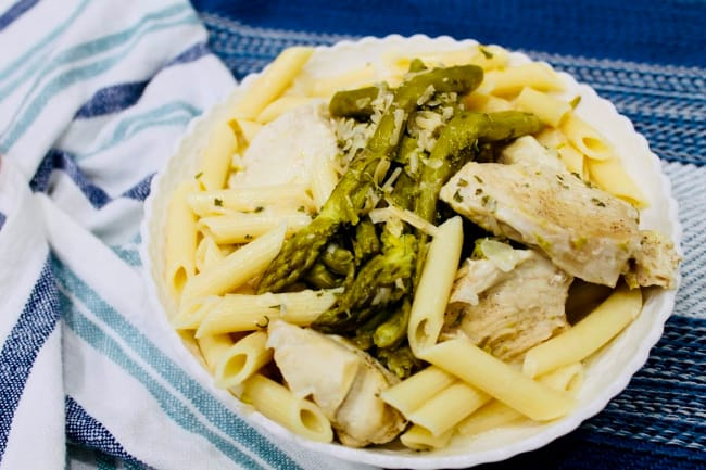 instapot Chicken with Asparagus