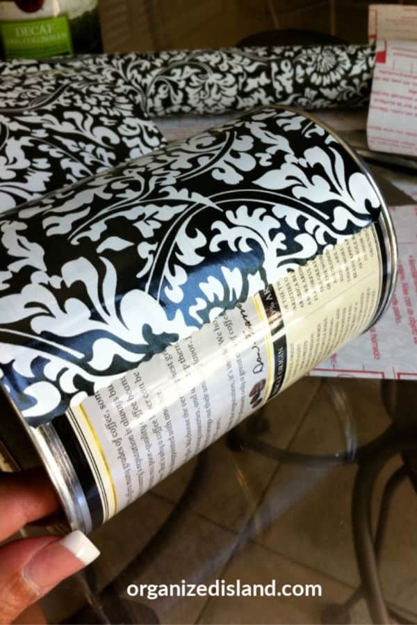reusing coffee cans