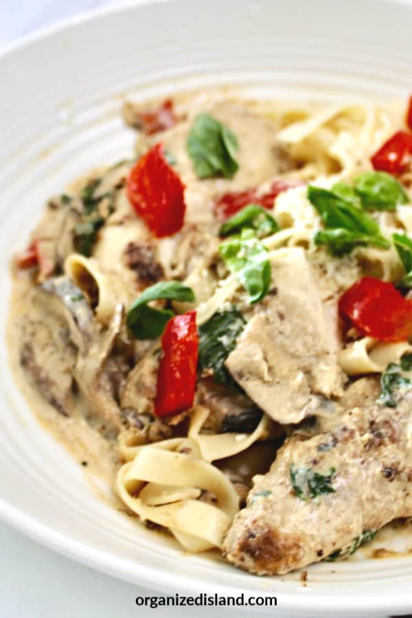 Chicken Pasta with Basil