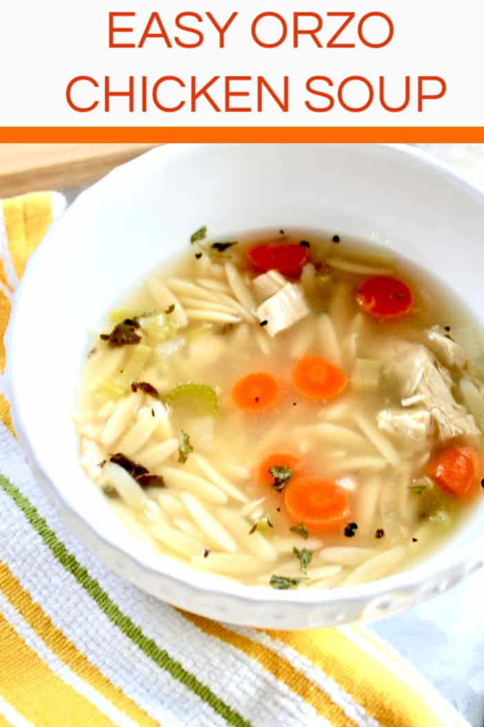 Orzo chicken Soup from scratch