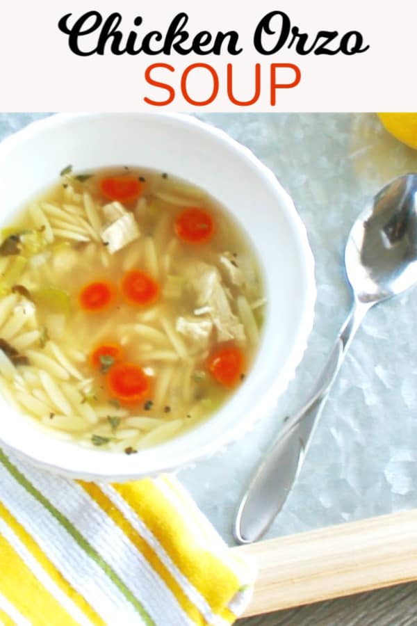 Chicken Orzo Soup Homemade