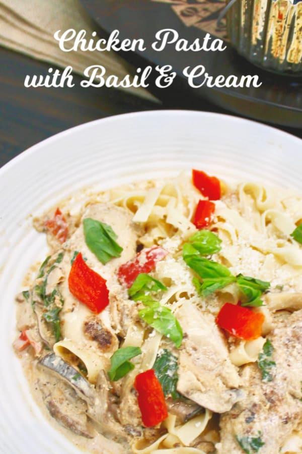 Chicken with Basil and Cream