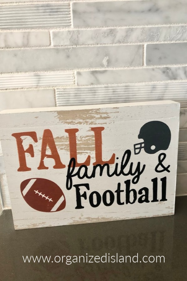 Fall football sign