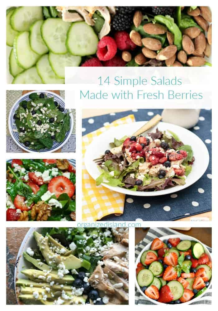 A round up of salads made with fresh berries