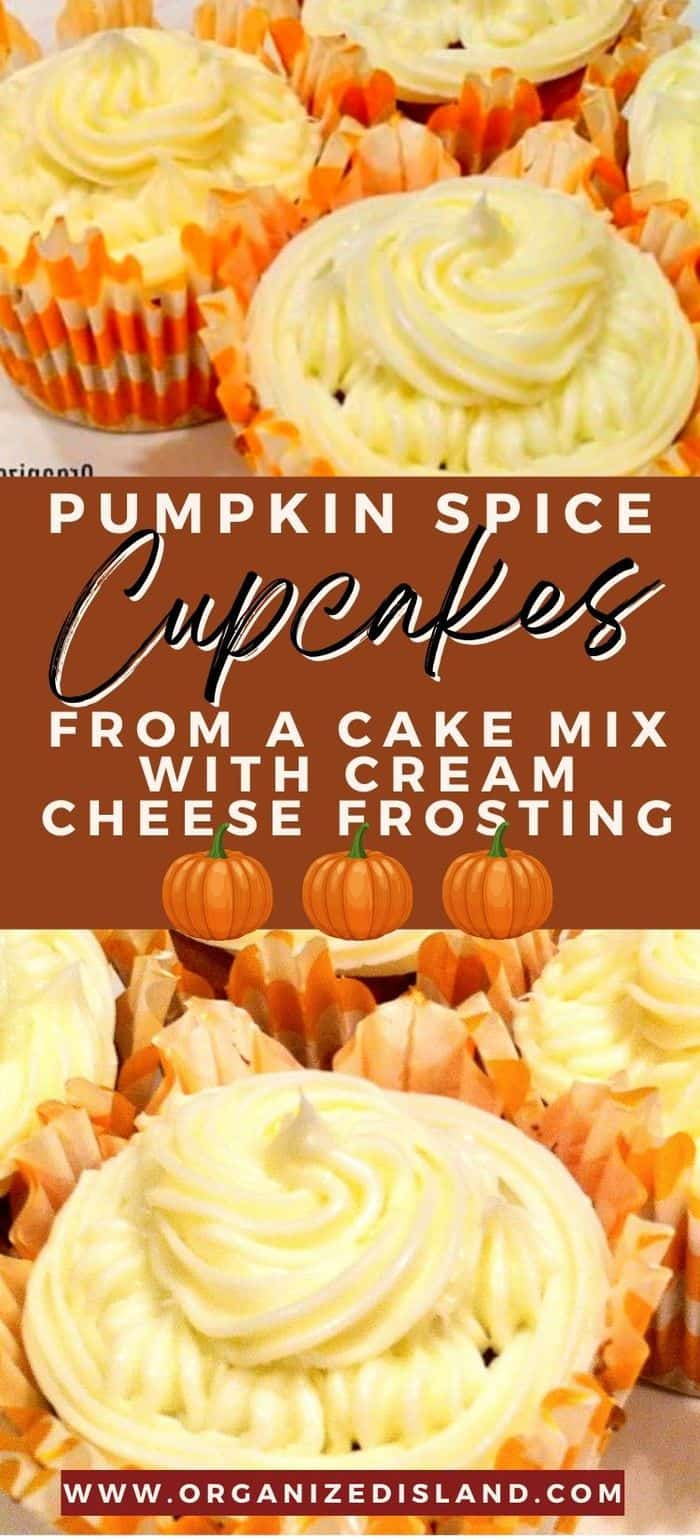 Pumpkin Spice Cupcakes from a Cake Mix