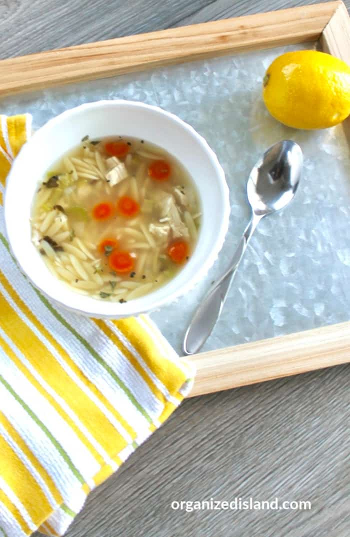 how to make chicken orzo soup