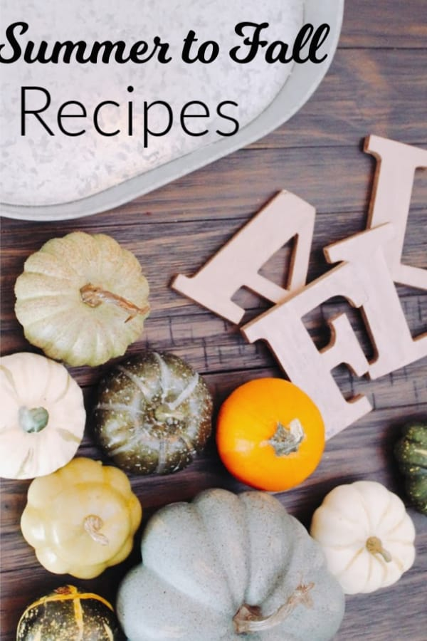 Summer to Fall Recipes