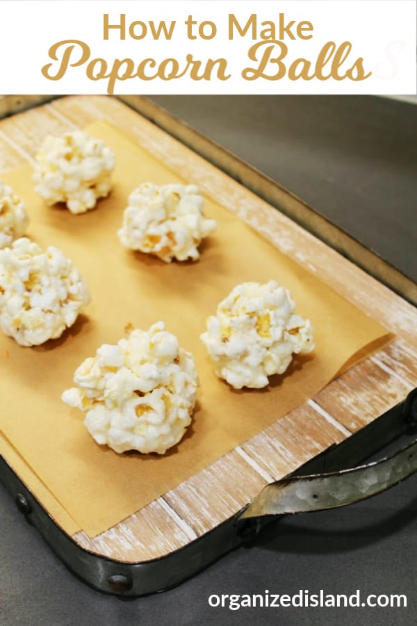 How to make popcorn balls recipe