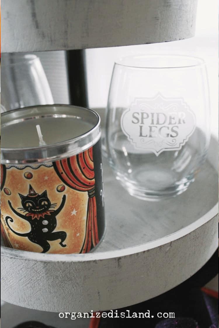 Halloween glassware