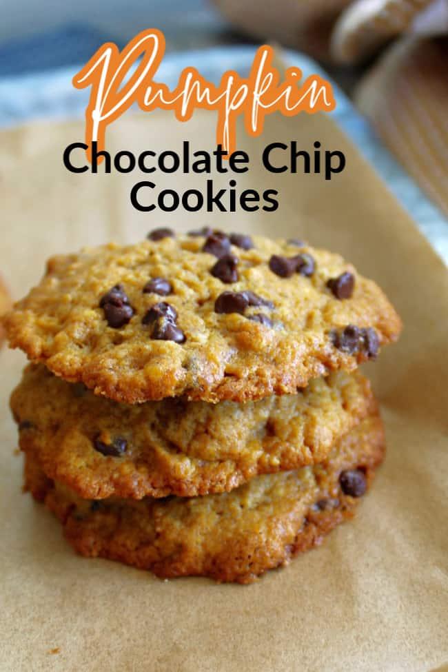 Pumpkin chocolate chip cookies (2)