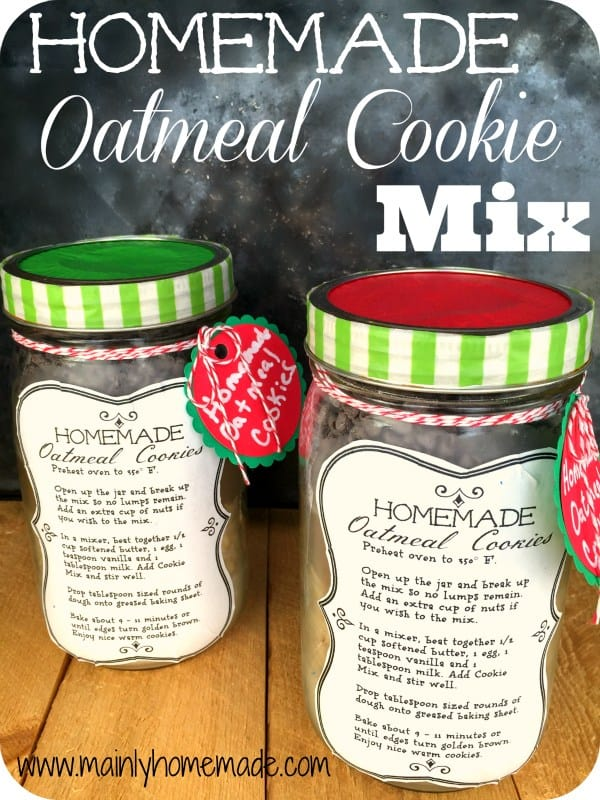 Homemade Oatmeal Cookie Mix in a Jar