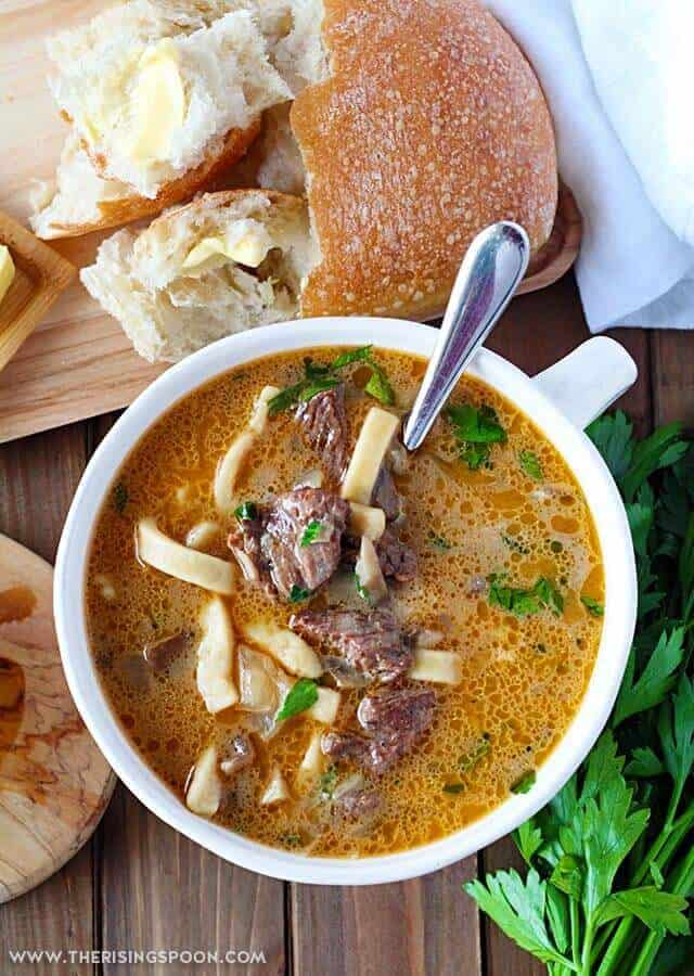 easy beef stroganoff soup