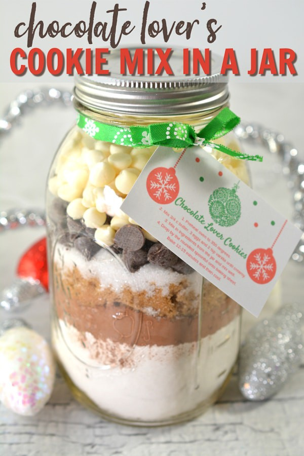 Chocolate Lovers Cookie Mix in a Jar