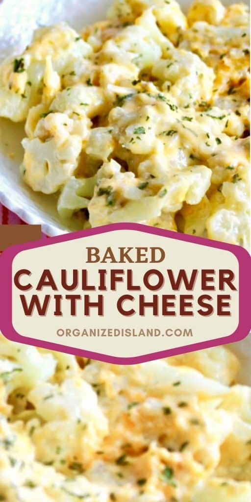 Baked Cauliflower With Cheese