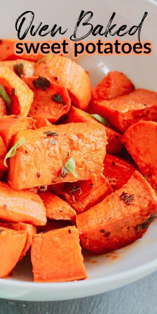Oven baked sweep potatoes
