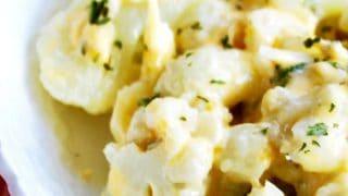 Cauliflower with cheese sauce