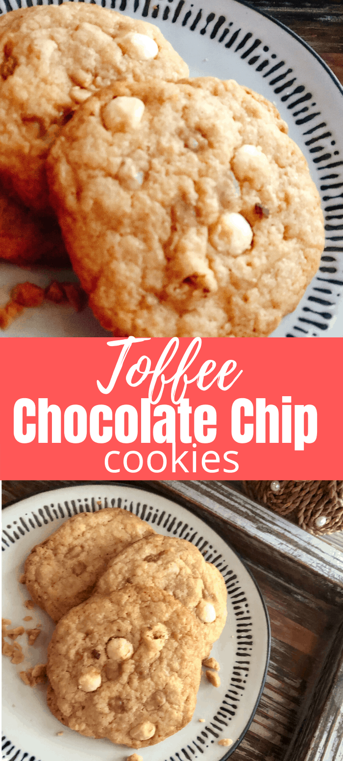 Toffee chocolate chip cookie recipe!