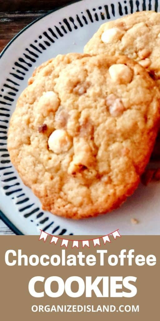 White Chocolate Chip Toffee Cookies