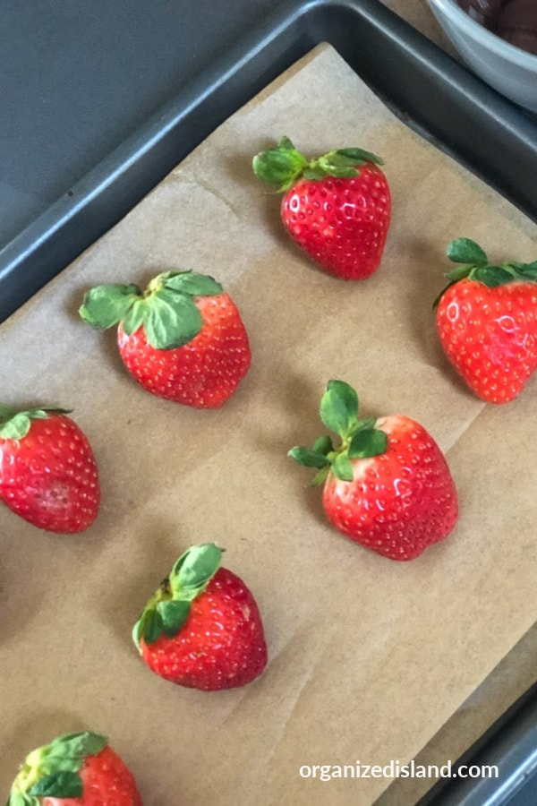Strawberries for dipping