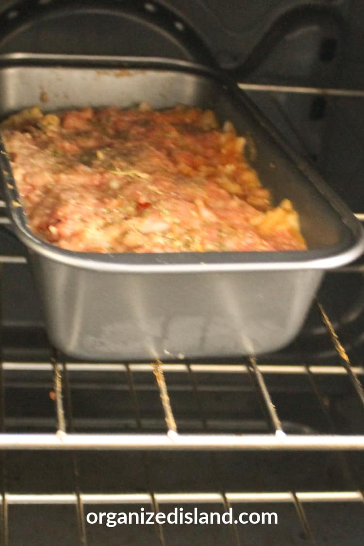 Meatloaf in oven
