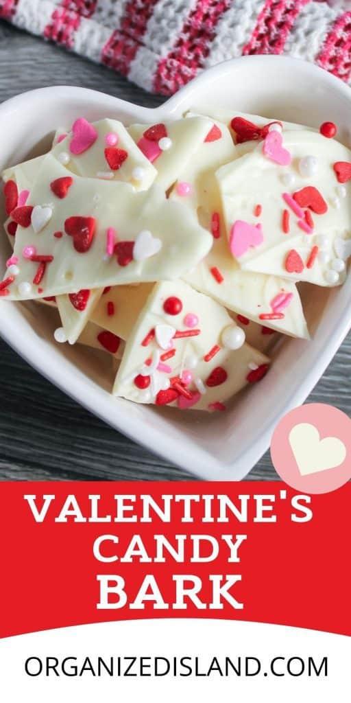 Valentine's White Chocolate Candy Bark