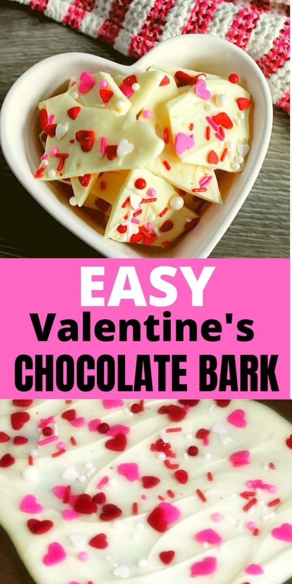 Valentine's Chocolate Bark