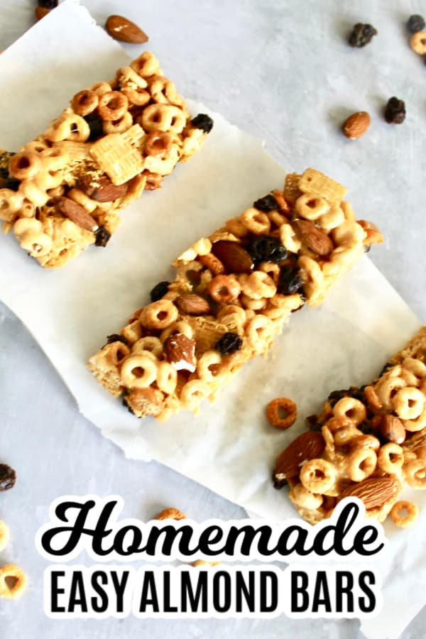 homemade almond cereal bars