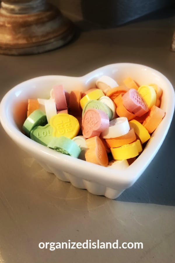 Heart candy bowl