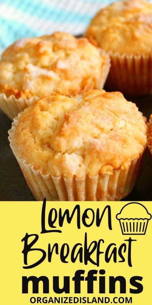 Lemon brealfast muffins