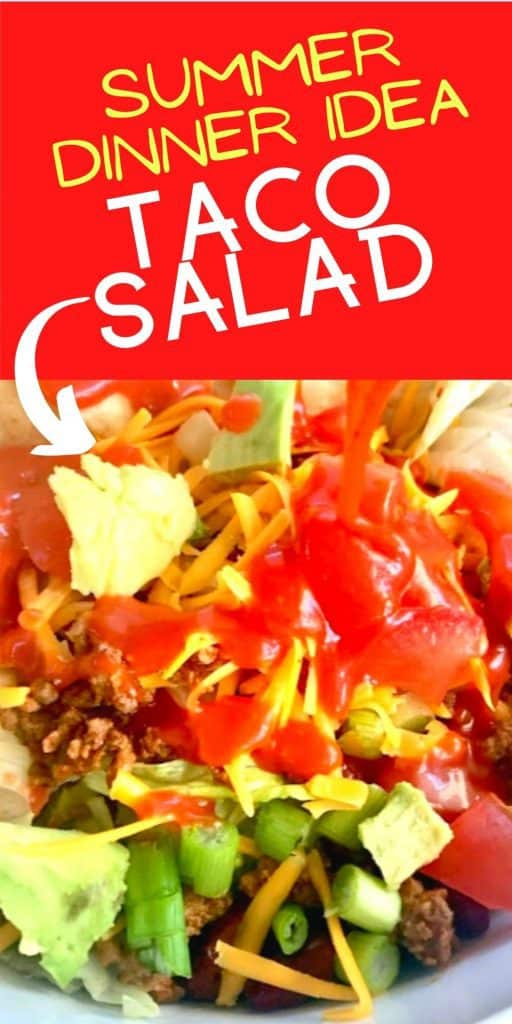 Taco salad with ground beef and tomatoes