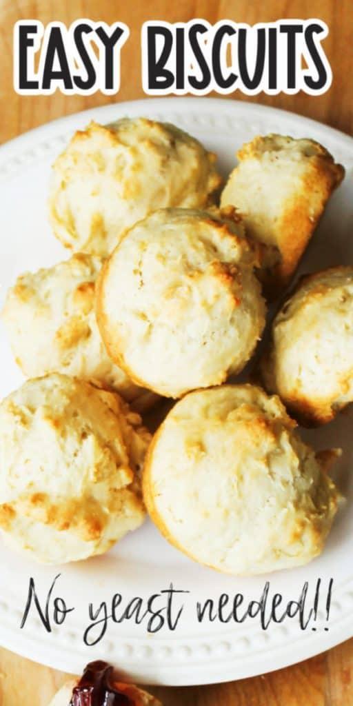 Simple Drop Biscuits no yeast