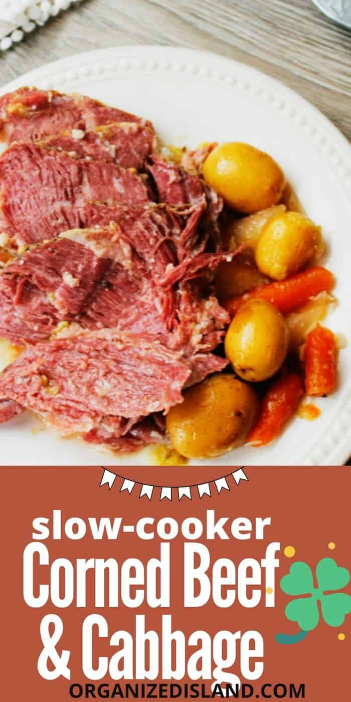 This easy Slow Cooker Corned Beef and Cabbage
